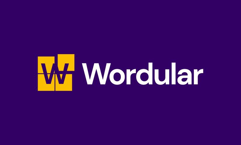 Wordular - Media domain name for sale
