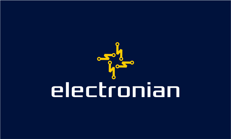 Electronian - Masculine startup name for sale