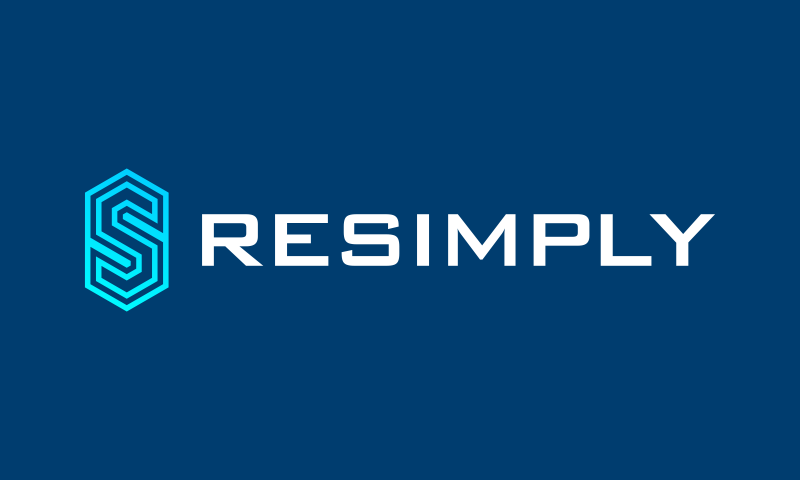 Resimply - Technology startup name for sale
