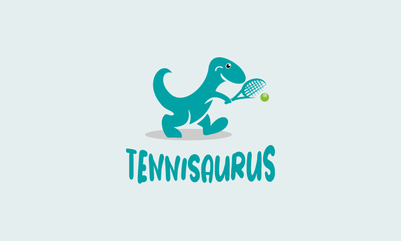 Tennisaurus - Sports business name for sale