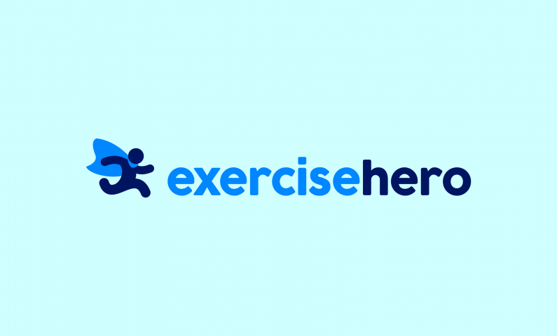 exercisehero logo - Get fit with this inspirational name