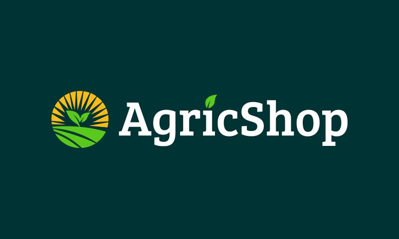 Agricshop - E-commerce startup name for sale