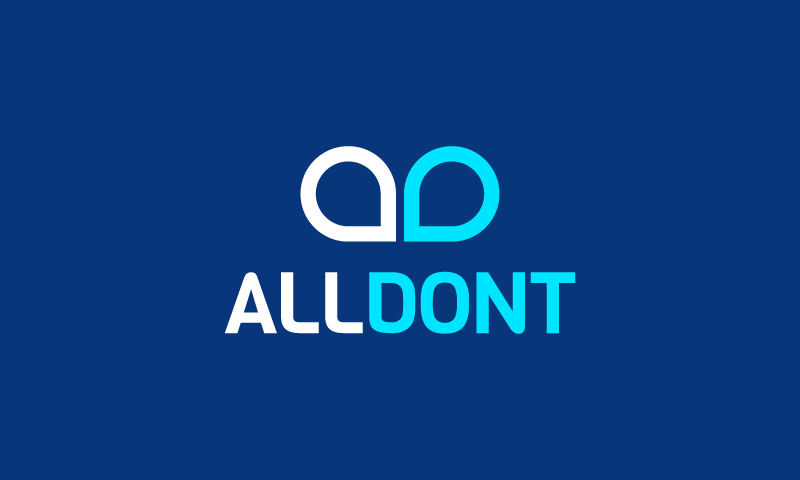 Alldont - Finance startup name for sale