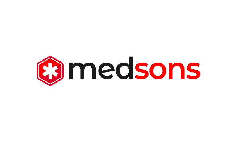 Medsons - Healthcare company name for sale