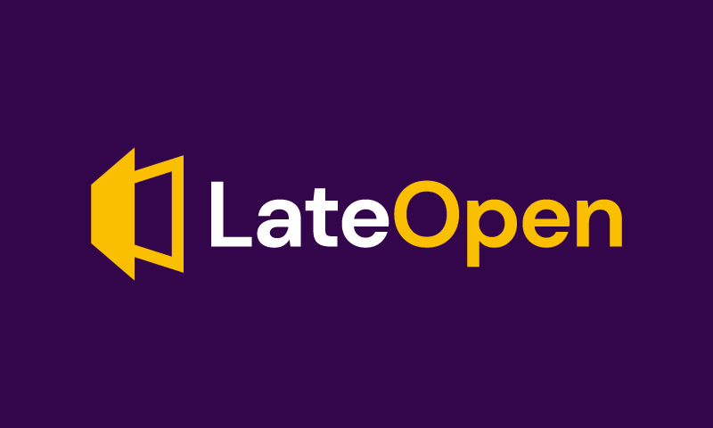 Lateopen - E-commerce company name for sale