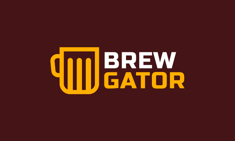 Brewgator - Alcohol domain name for sale