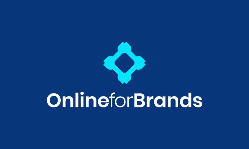 Onlineforbrands - E-commerce startup name for sale