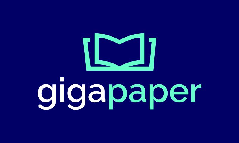 Gigapaper - Media company name for sale