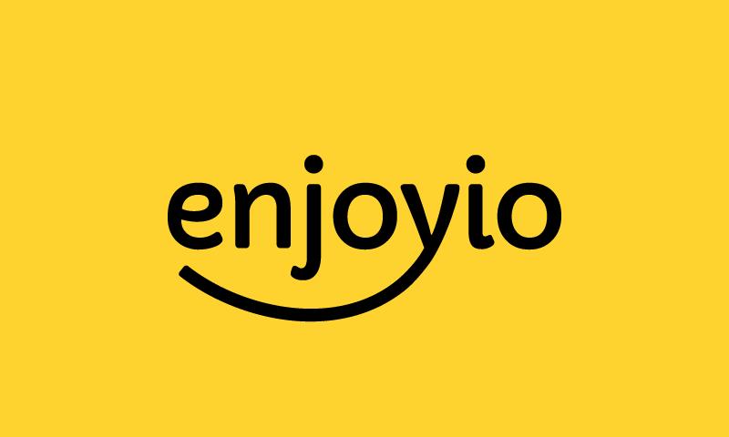 Enjoyio - Contemporary startup name for sale
