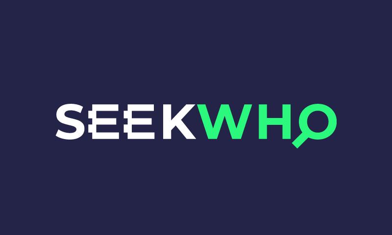 Seekwho - E-commerce startup name for sale