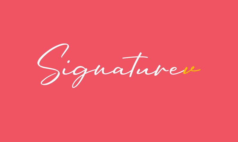 Signaturev - Modern business name for sale