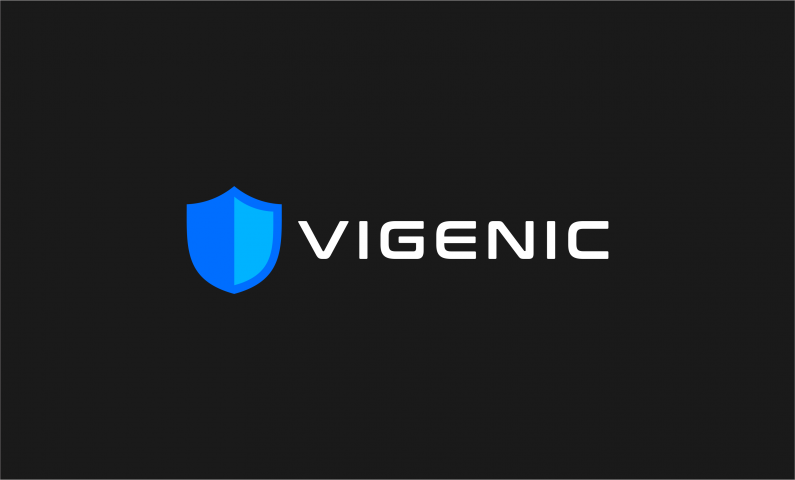 vigenic logo - Brandable domain name