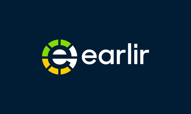Earlir - Technology domain name for sale
