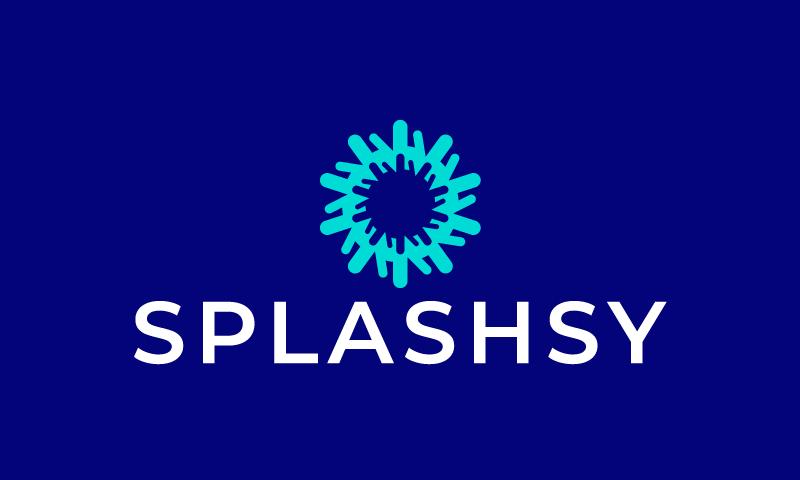 Splashsy - E-commerce company name for sale