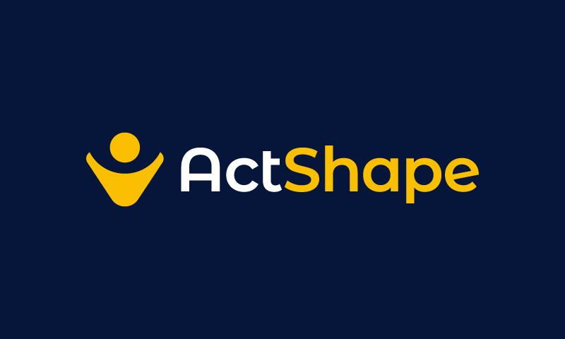 Actshape - E-commerce domain name for sale