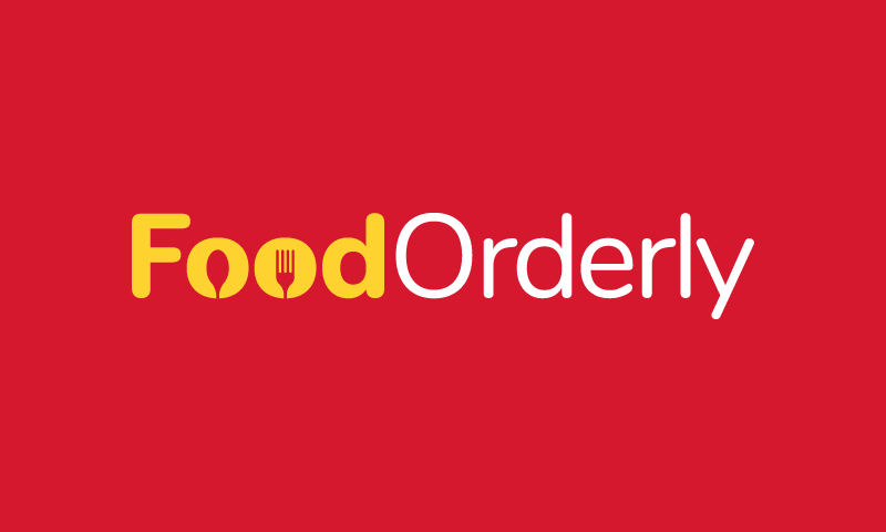 Foodorderly - Food and drink startup name for sale