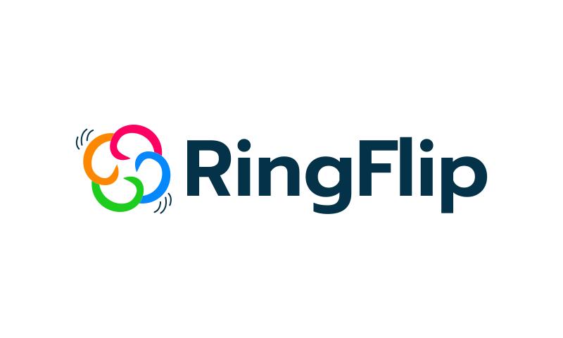 Ringflip - Modern startup name for sale