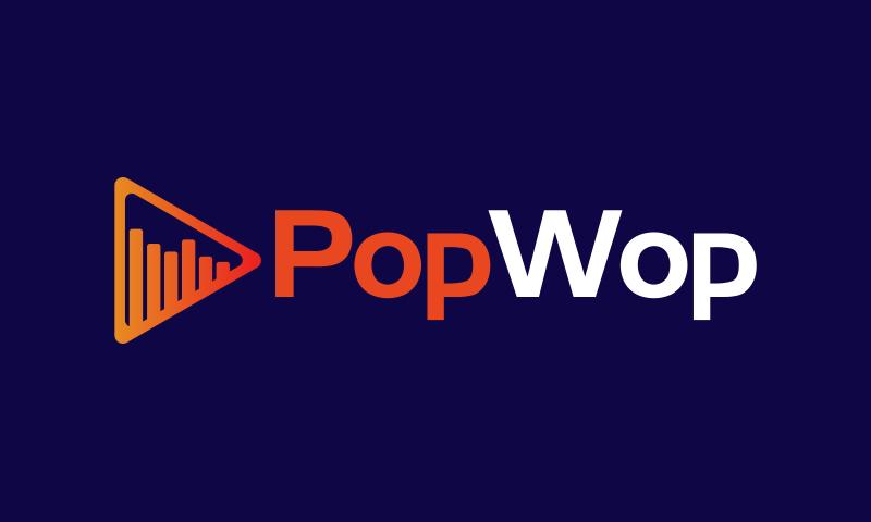 Popwop - Audio brand name for sale
