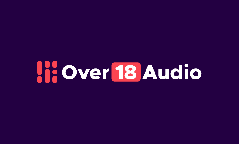 Over18audio - Audio company name for sale