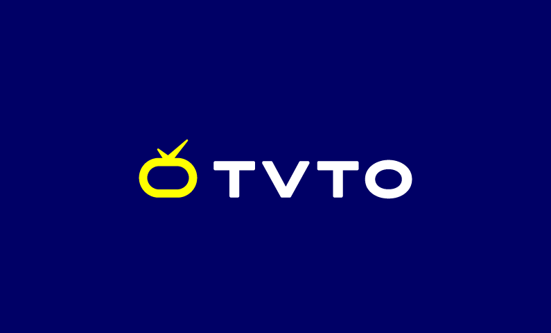 tvto logo - Powerful name for any TV-related or media business
