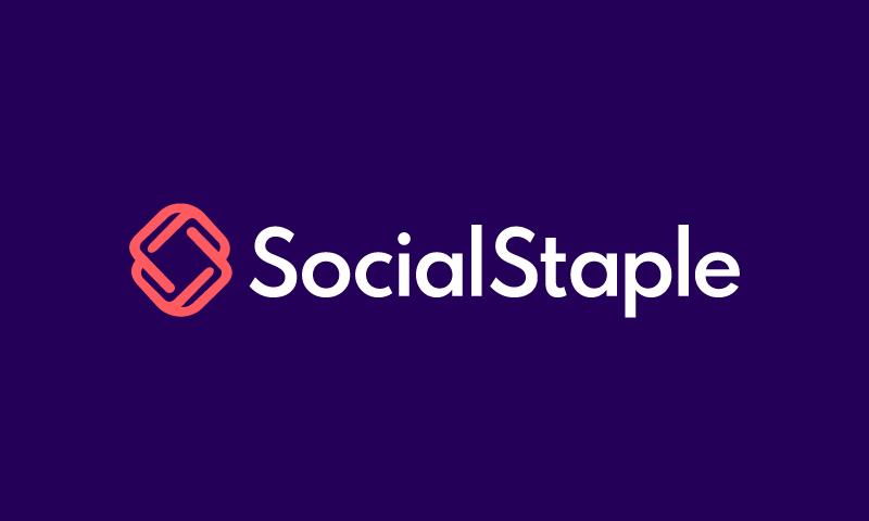 Socialstaple - Social brand name for sale