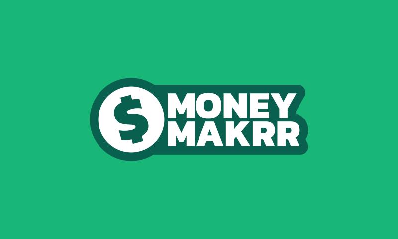 Moneymakrr - Finance startup name for sale