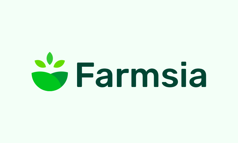Farmsia - Agriculture startup name for sale