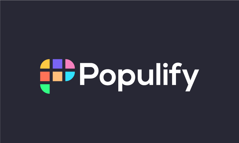 Populify - Marketing brand name for sale