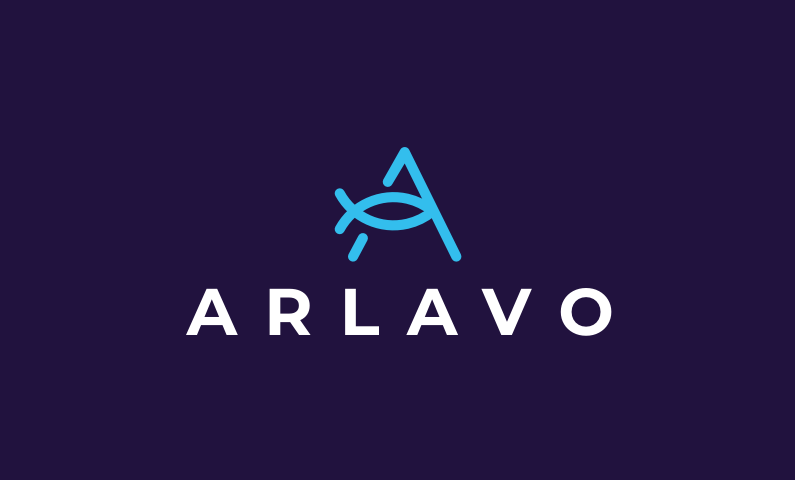Arlavo logo - Abstract brandable domain