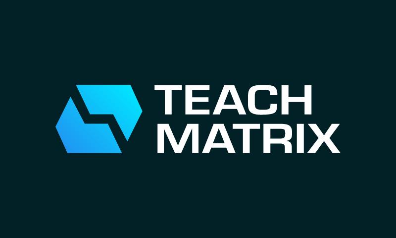 Teachmatrix - E-learning brand name for sale