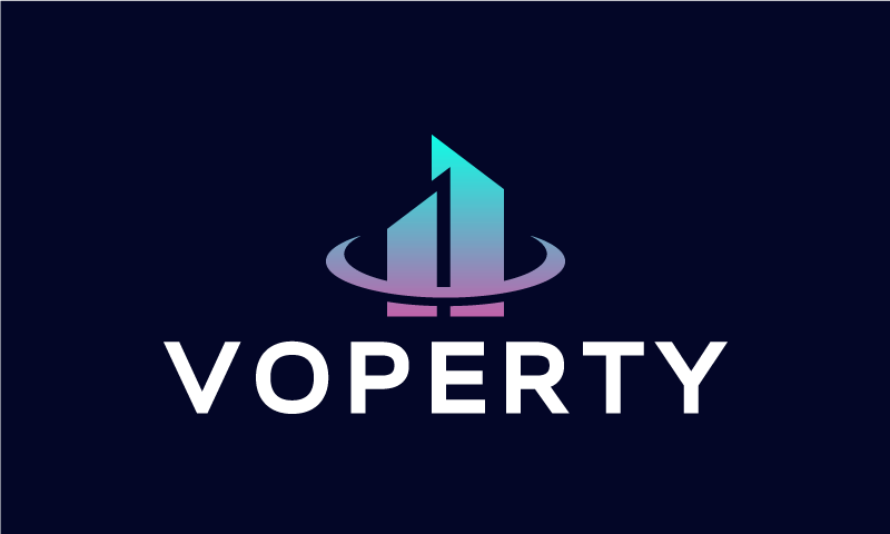Voperty - Real estate company name for sale