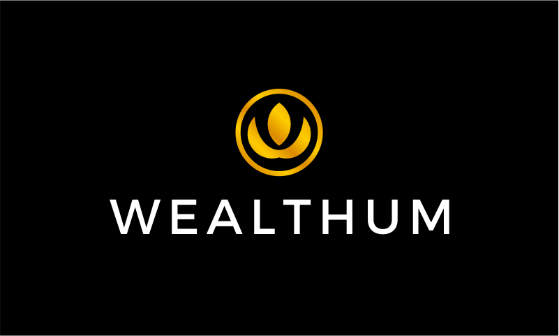 Wealthum - Cryptocurrency startup name for sale