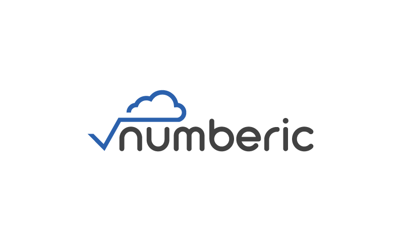 Numberic logo - Business name for a company in the tech industry