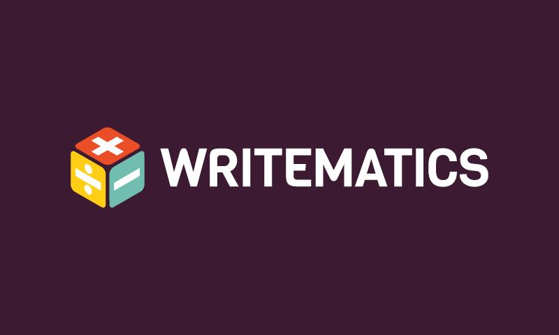 Writematics.com - Writing brand name for sale