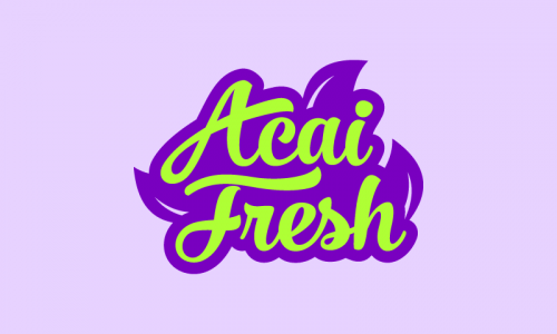 Acaifresh - Food and drink company name for sale