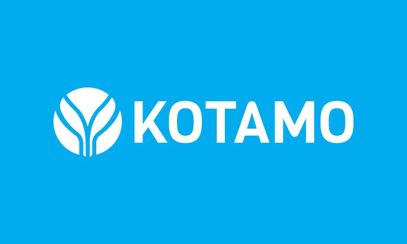 Kotamo - Contemporary business name for sale