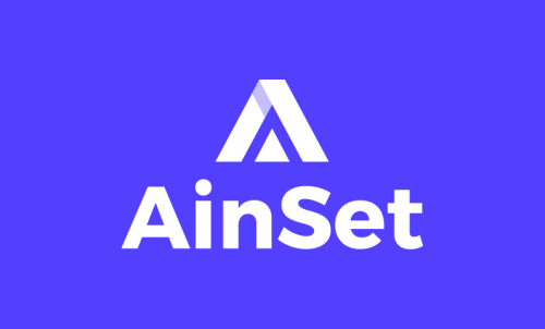 Ainset - Contemporary startup name for sale