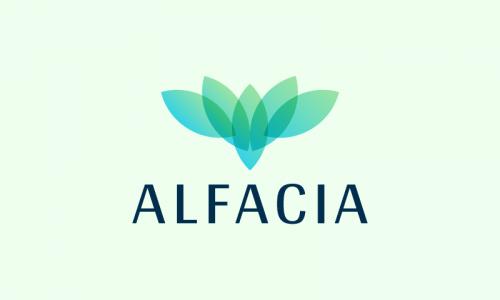 Alfacia - E-commerce startup name for sale
