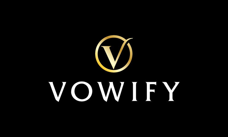 Vowify - Weddings startup name for sale