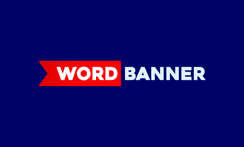 Wordbanner - Business brand name for sale