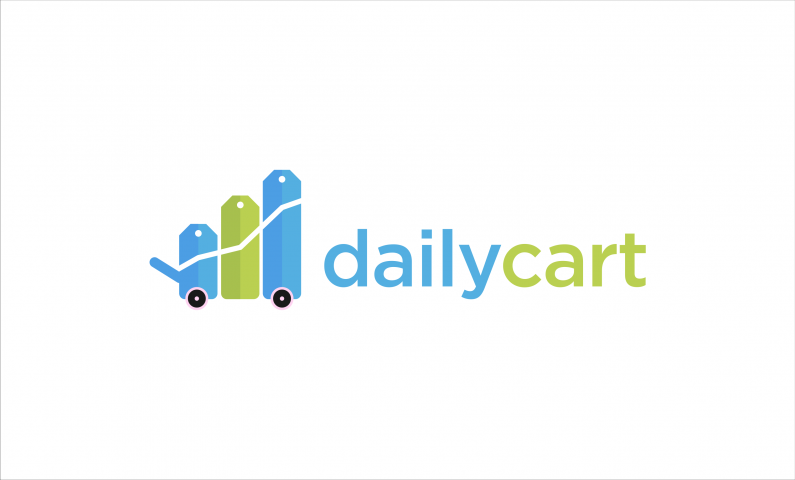 DailyCart logo - Powerful domain name for a shopping service