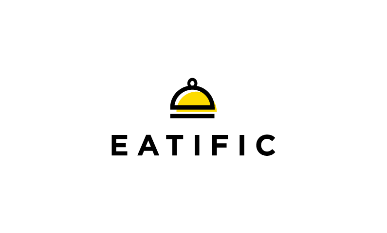 eatific logo - Business name for a company in the food industry
