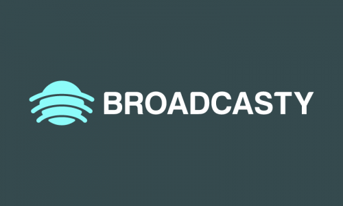 Broadcasty - Marketing domain name for sale