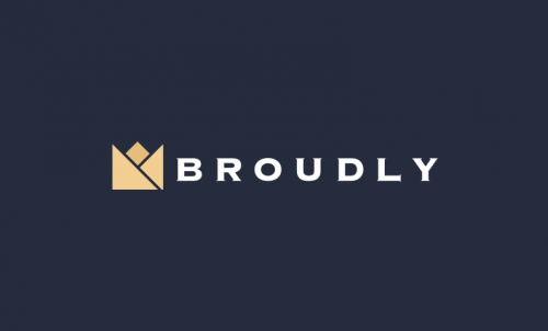 Broudly - Invented company name for sale