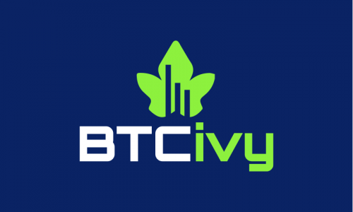 Btcivy - Cryptocurrency startup name for sale