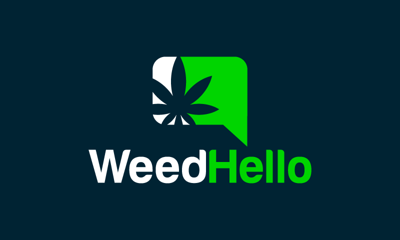 Weedhello - Cannabis domain name for sale