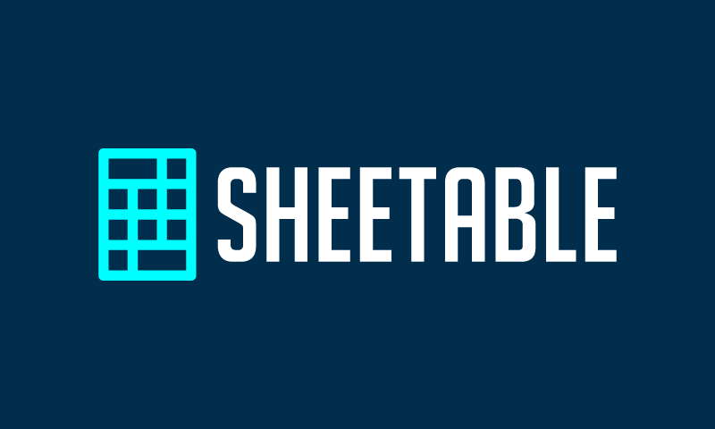 Sheetable - Business startup name for sale