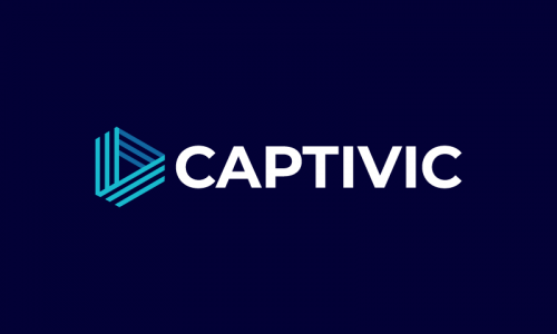 Captivic - Writing brand name for sale