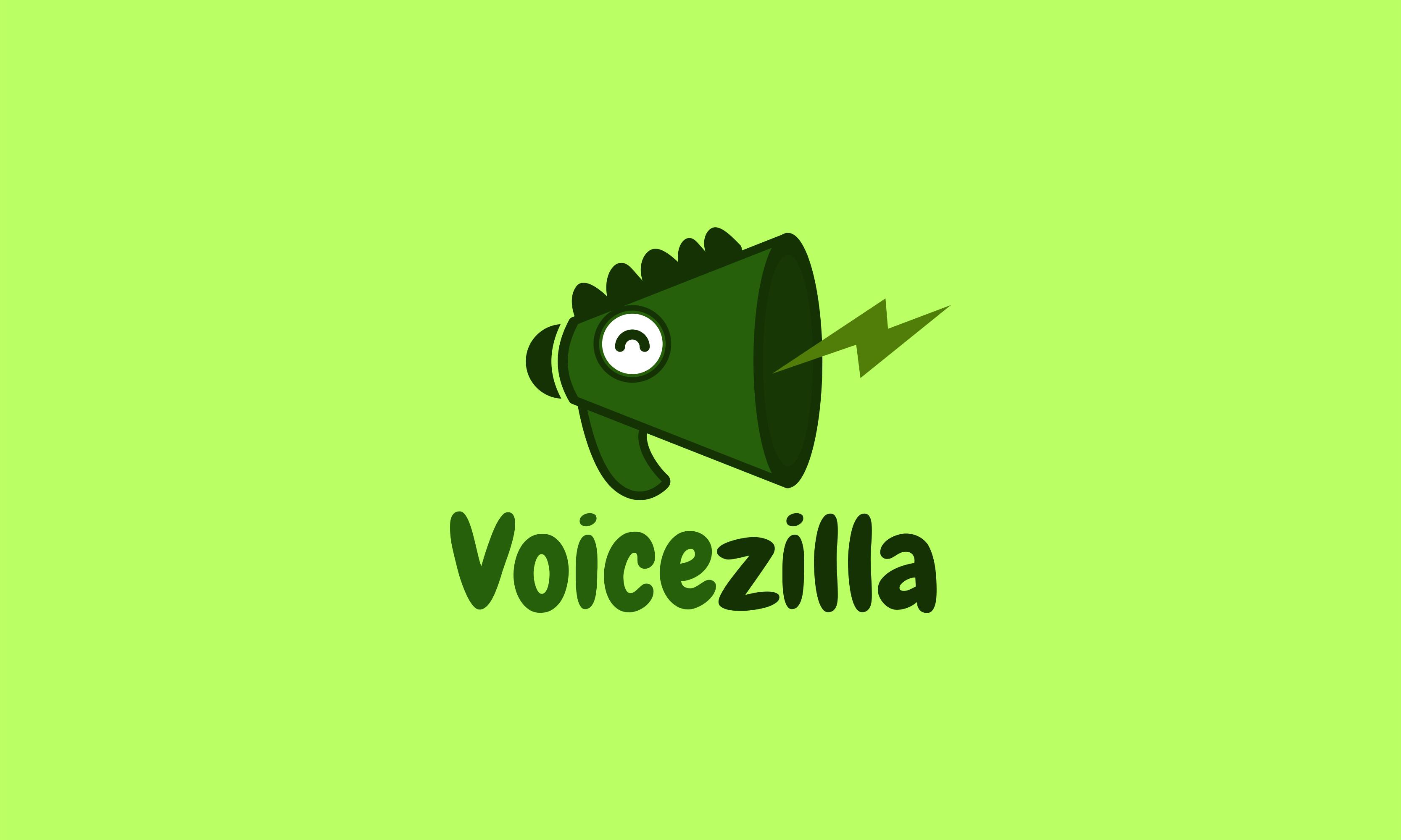 Voicezilla - Audio startup name for sale