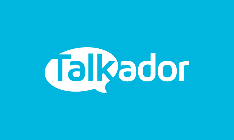 Talkador - Chat company name for sale